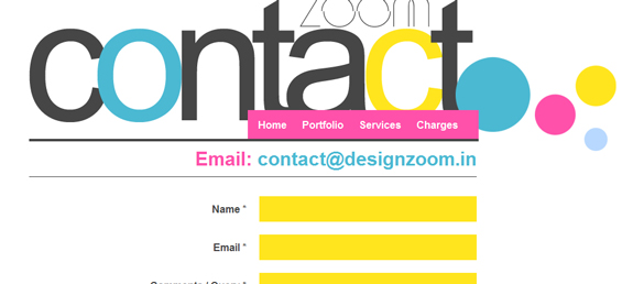 Design Zoom, Beautiful Contact Page Design