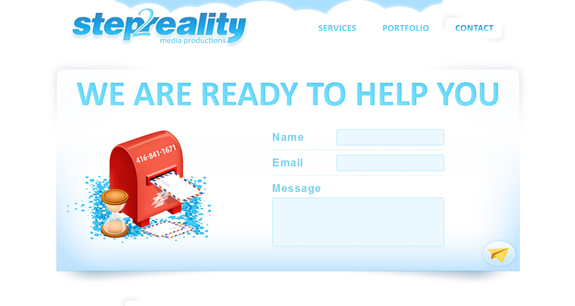 Step2Reality, Beautiful Contact Page Design