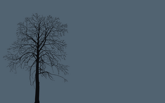 Winter Tree, Minimal Wallpaper
