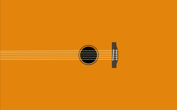 Guitar Minimal Wallpaper