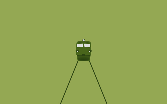 Train Minimal Wallpaper