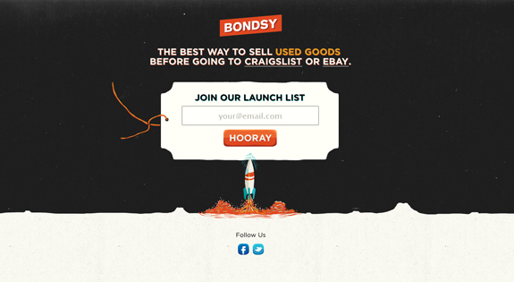 Bondsy, Join Our Launch List