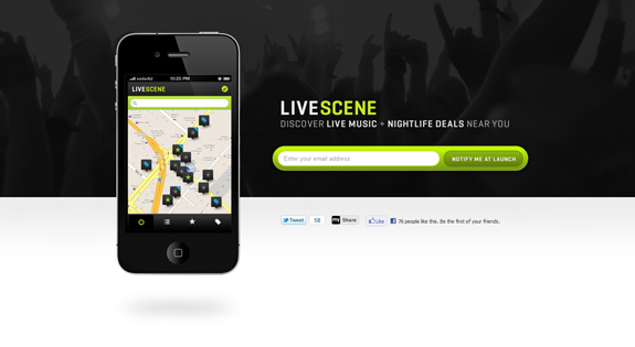 LiveScene, Notify Me At Launch