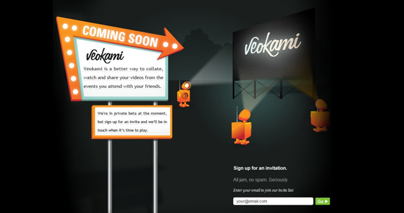 Veokami, Coming Soon Page Design