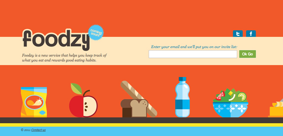 Foodzy, Coming Soon Web Design