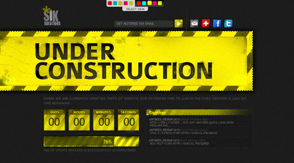 Under Construction Website Design