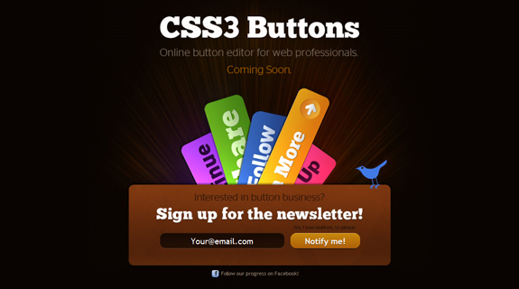CSS3 Buttons, Coming Soon