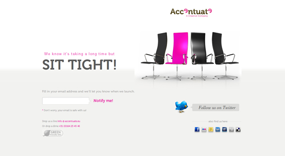 Sit Tight, Launching Soon Page Design
