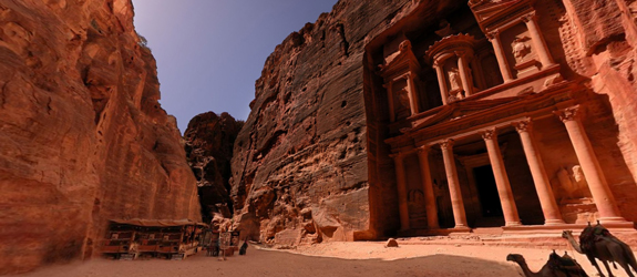 Petra Jordan in Panoramic View
