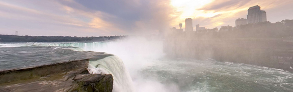 Niagara Falls in Panoramic View