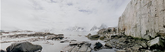 Antarctica in Panoramic View