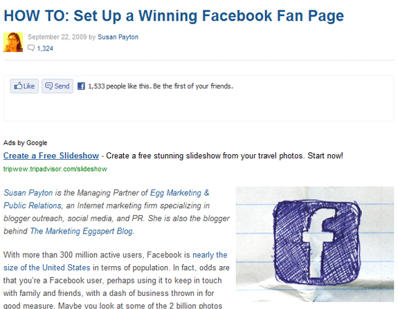 HOW TO: Set Up a Winning Facebook Fan Page
