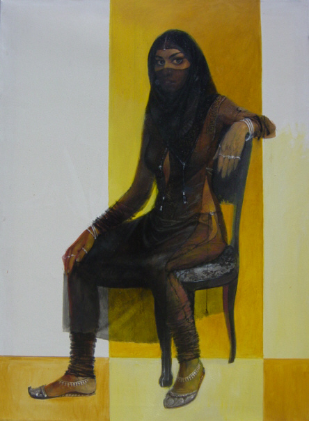 Girl on Chair Painting