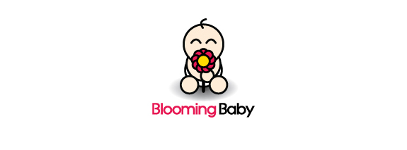 Flower Logo Design Ideas, Blooming Baby