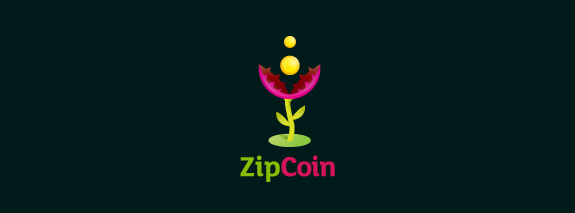 ZipCoin Flower Logo Design