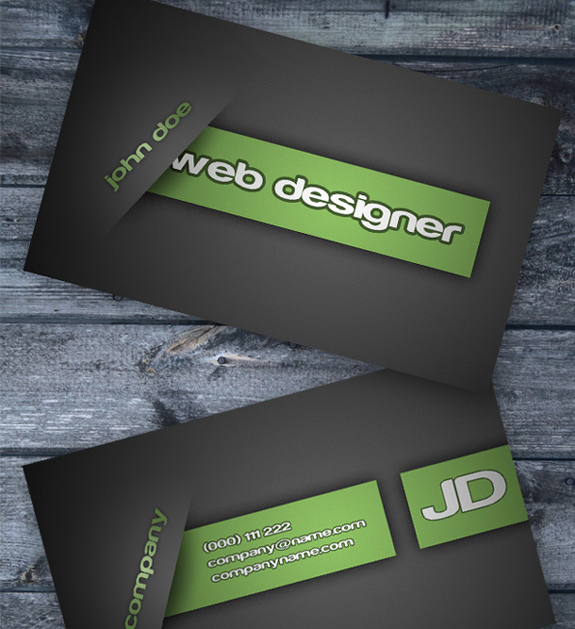 Free Business Card Templates The Design Work - Business card template psd download