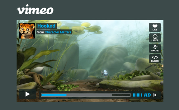 Vimeo Player PSD Template