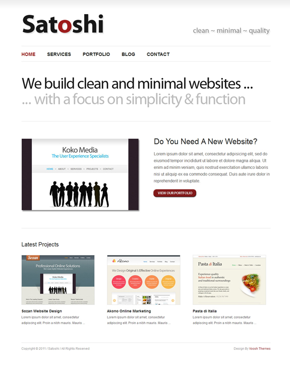 Free WordPress Minimalist Theme