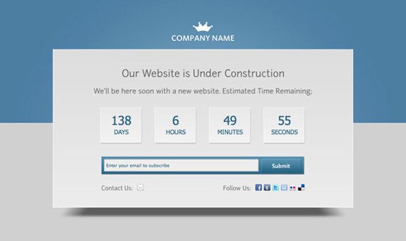 Under Construction Website PSD