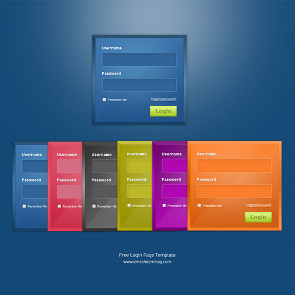 Useful Login Page Template 16 20 Useful Login Page Template   Free PSD Files