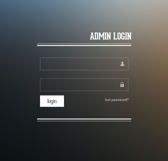 admin login 20 Useful Login Page Template   Free PSD Files