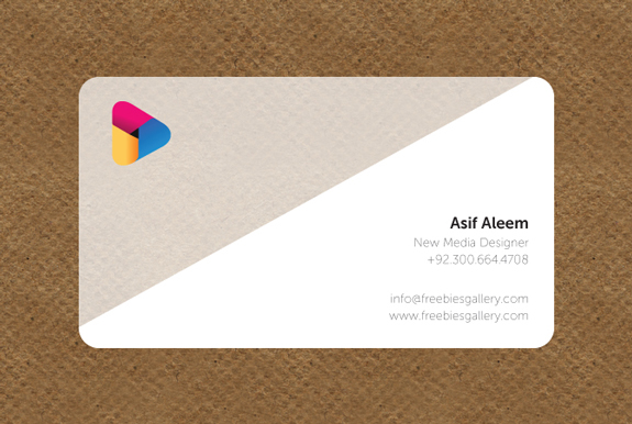 Transparent Business Card Template