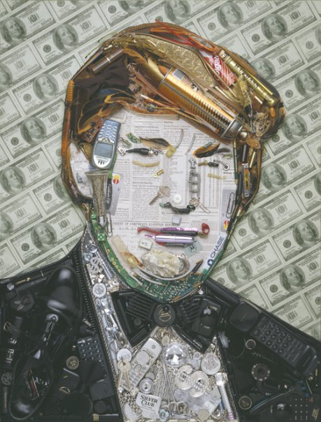 Celebrity Portrait Illustrations Made of Useless Junk
