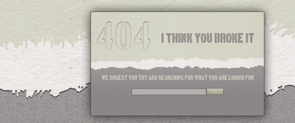 404 Error Page Web Element