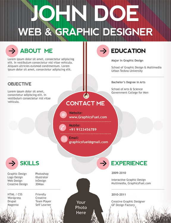 free professional online one page resume templates the design work