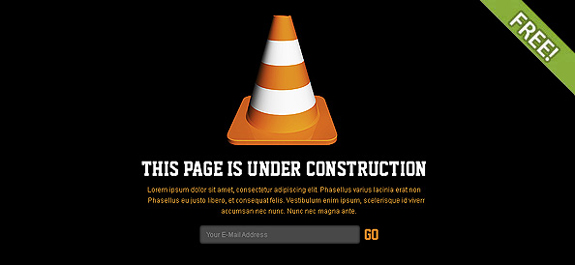Free Website Under Construction PSD Templates
