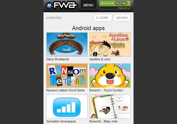 FWA Mobile Showcase