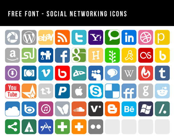 Social Media Icons in Vector Format | The Design Work