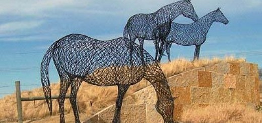 Wire Sculptures Made From Useless Junk