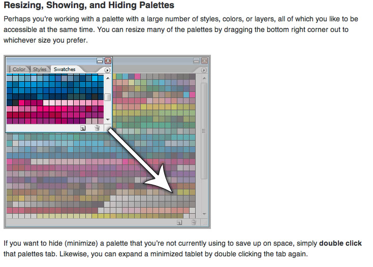 Using Palettes in Photoshop