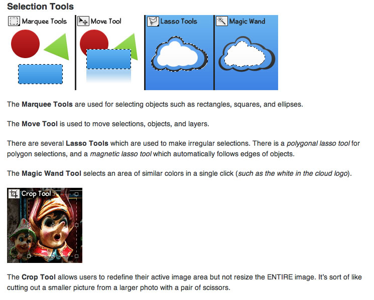 Photoshop Basic Tools