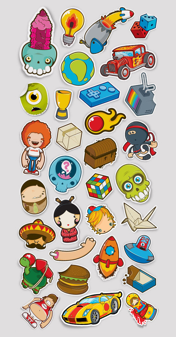 Beautiful Sticker Design Inspiration 02 Cool Stickers Design Inspiration