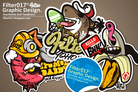 Beautiful Sticker Design Inspiration 09 Cool Stickers Design Inspiration