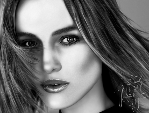 Keira Knightley Digital Paint