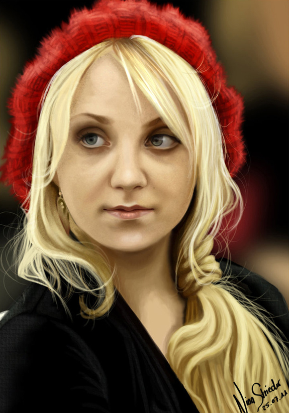 Evanna Lynch Digital Painting