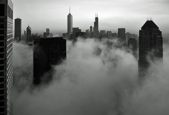 Foggy Loop Skyline - Urban Photo