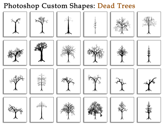 Trees Custom Shapes