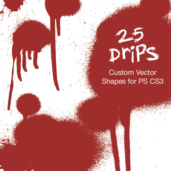 Drips - Photoshop Custom Shapes