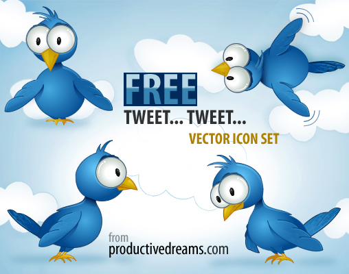 Free Twitter Vector Icon Set
