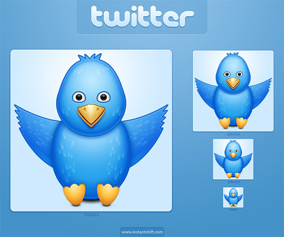 Cute Twitter Bird Icon Set