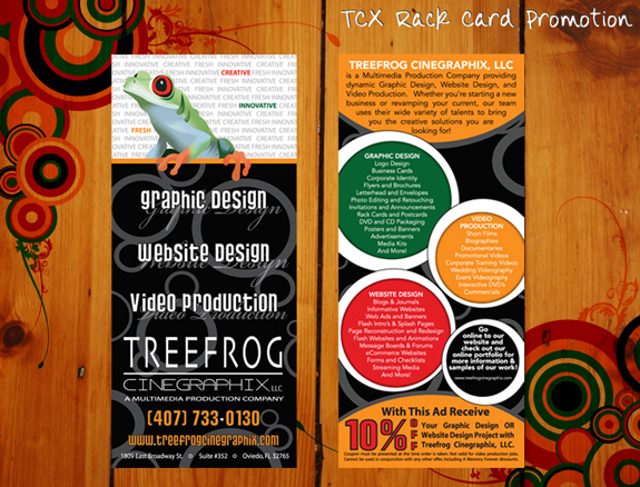 Treefrog Cinegraphix Rack Card