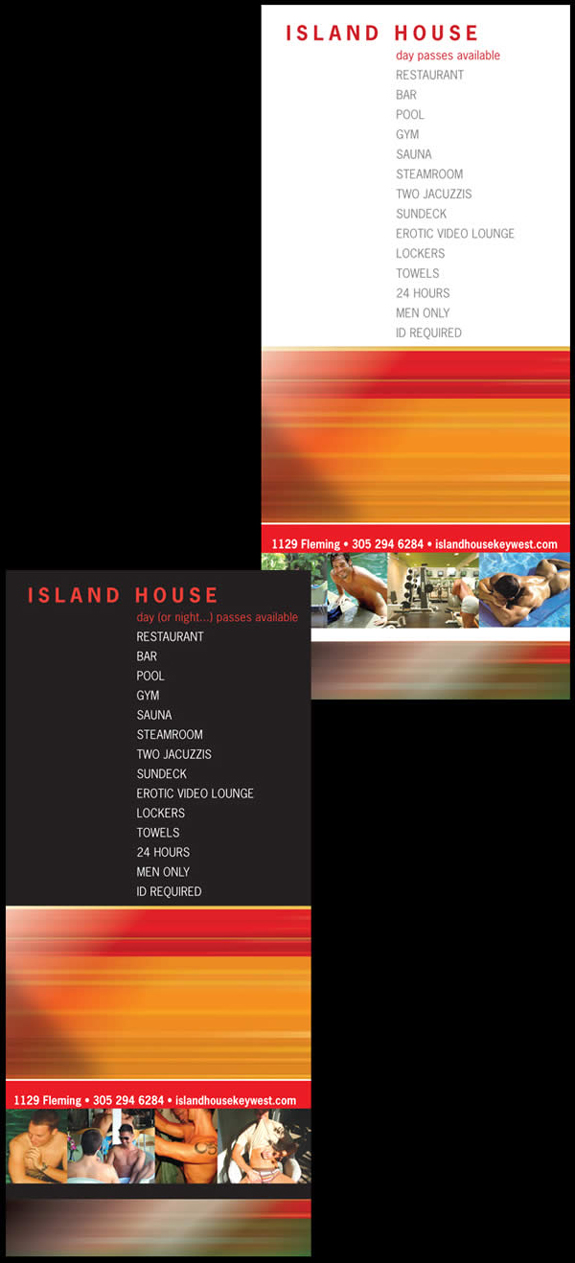 Island House - Rack Card Design