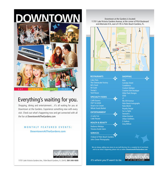 Down Town - Rack Card Design
