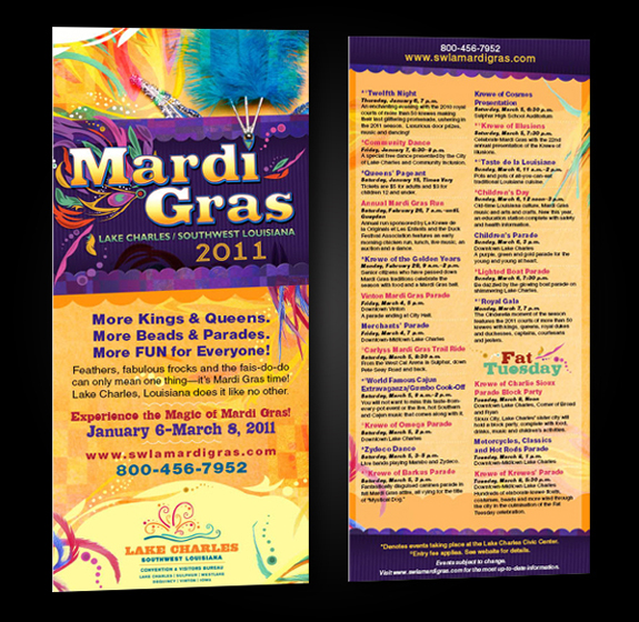 Mardi Gras 2011 - Rack Card Design