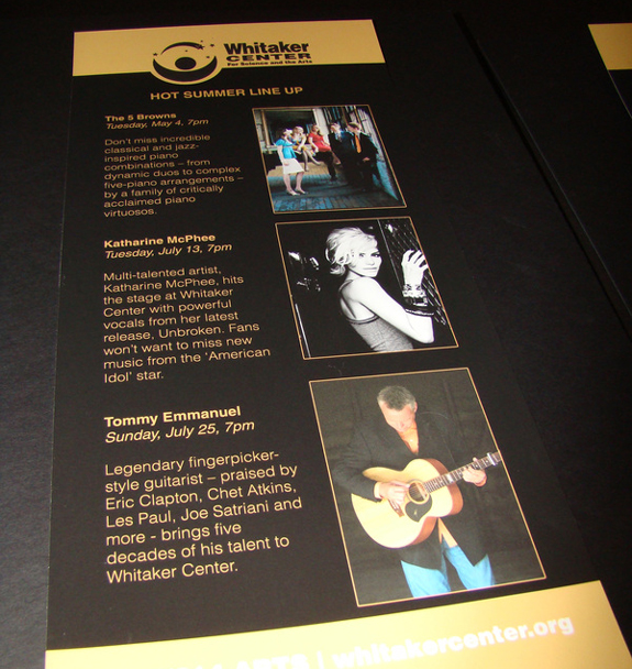 Whitaker Center Rack Card