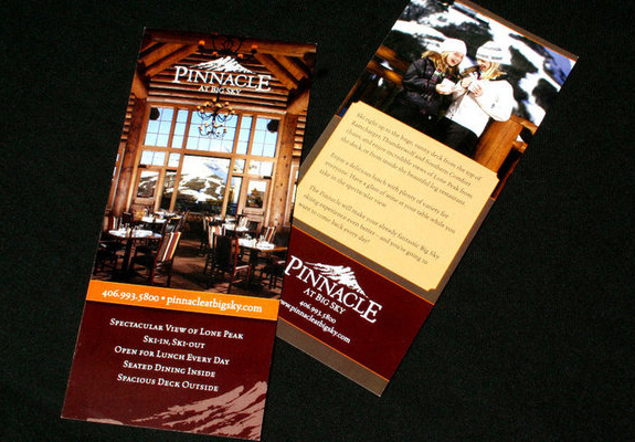 Pinnacle Restaurant Rack Card